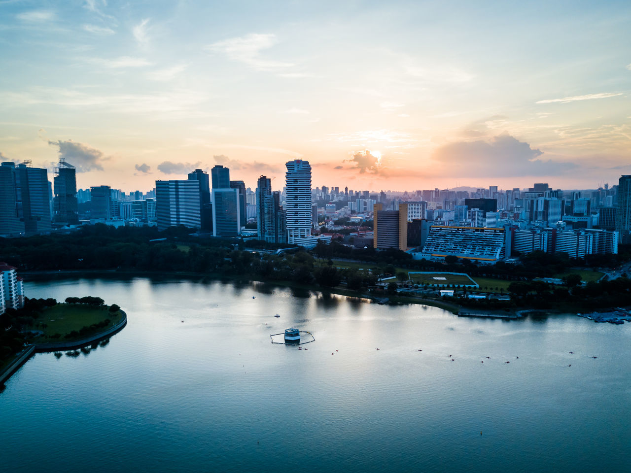 Architecture Building Exterior Built Structure City Cityscape Day Downtown District Drone  Dronephotography Modern Nature Nautical Vessel No People Outdoors River Singapore Sky Skyscraper Sunset Travel Destinations Urban Skyline Water Waterfront