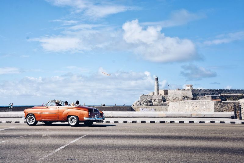 My kind of April Calendar Cover. Cloud - Sky Transportation Car Sky Mode Of Transport Land Vehicle Road Architecture City Havana Cuba Time Vintage Cars Architecture Vintage Chevrolet Chevy The Street Photographer - 2017 EyeEm Awards Been There.