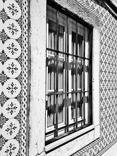 Houses House Houses And Windows of Lisbon Lisboa Lisbonne Portugal Streetphotography Typical Houses Urban Photography Geometry Geometric Art Urban Art Urbanstyle Street Streetart Window View Window Art Blackandwhite Black & White Blackandwhite Photography Light And Shadows