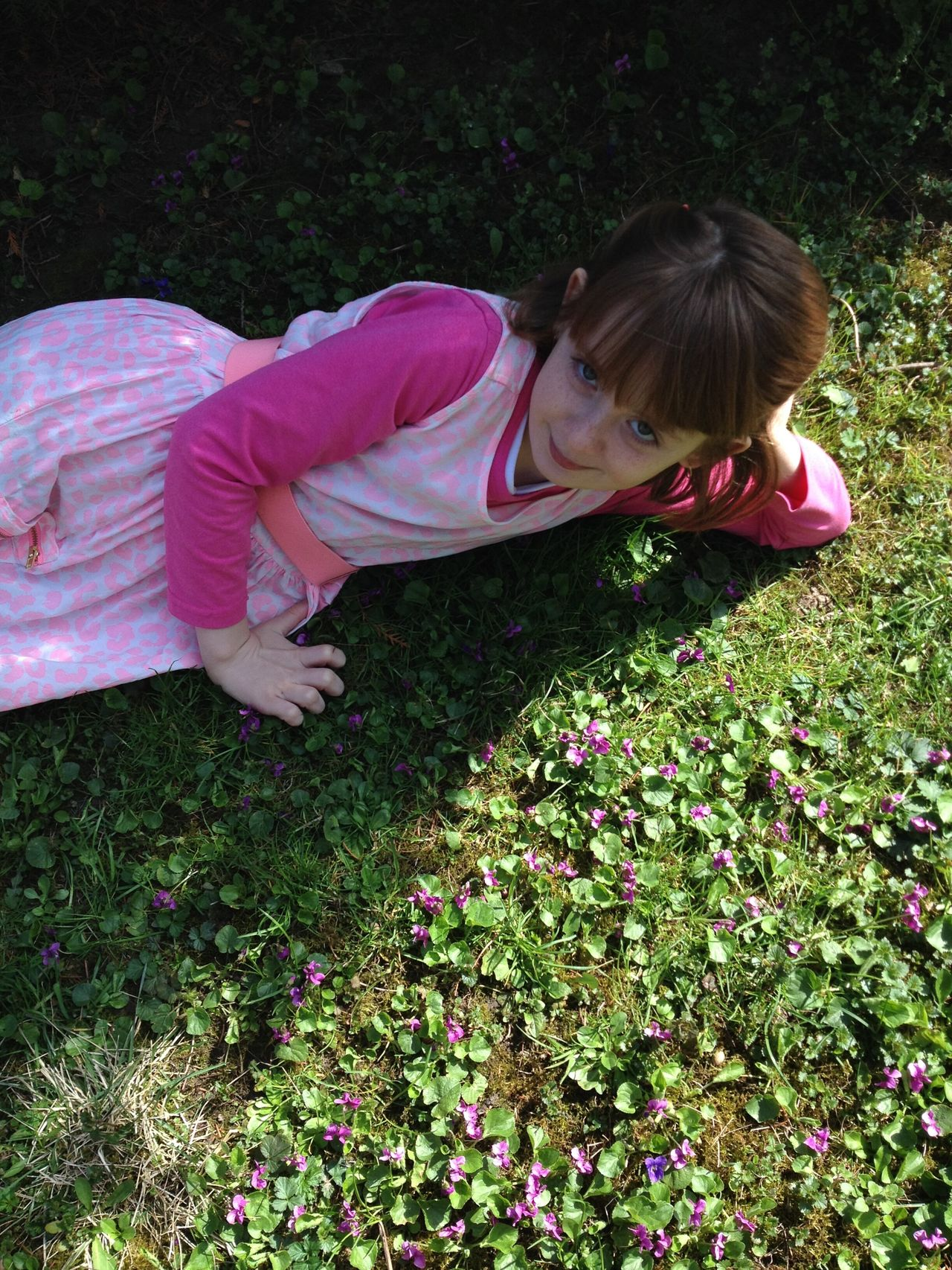 One Girl Only One Person Casual Clothing Child Pink Color Childhood Outdoors Violet Flowers Pink Dress Freckleface Grass Playing Looking At Camera Spring Madame Lady Rebel Freckle Girl Power Pink Dress❤ Violets Violet Flower Laying In The Grass Cute Millennial Pink EyeEmNewHere