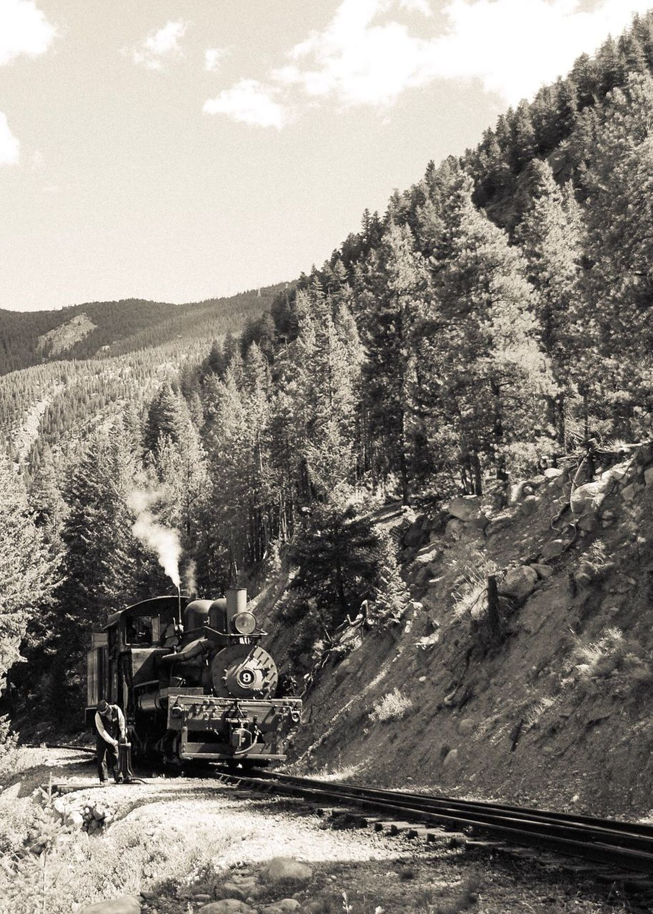 Shay Engine No. 9. Train I Love Trains Landscape Tree Sky Non-urban Scene Day Nature Outdoors Mountain Tranquility Scenics Tranquil Scene Beauty In Nature Georgetown Loop Georgetown, CO EyeEm Nature Lover