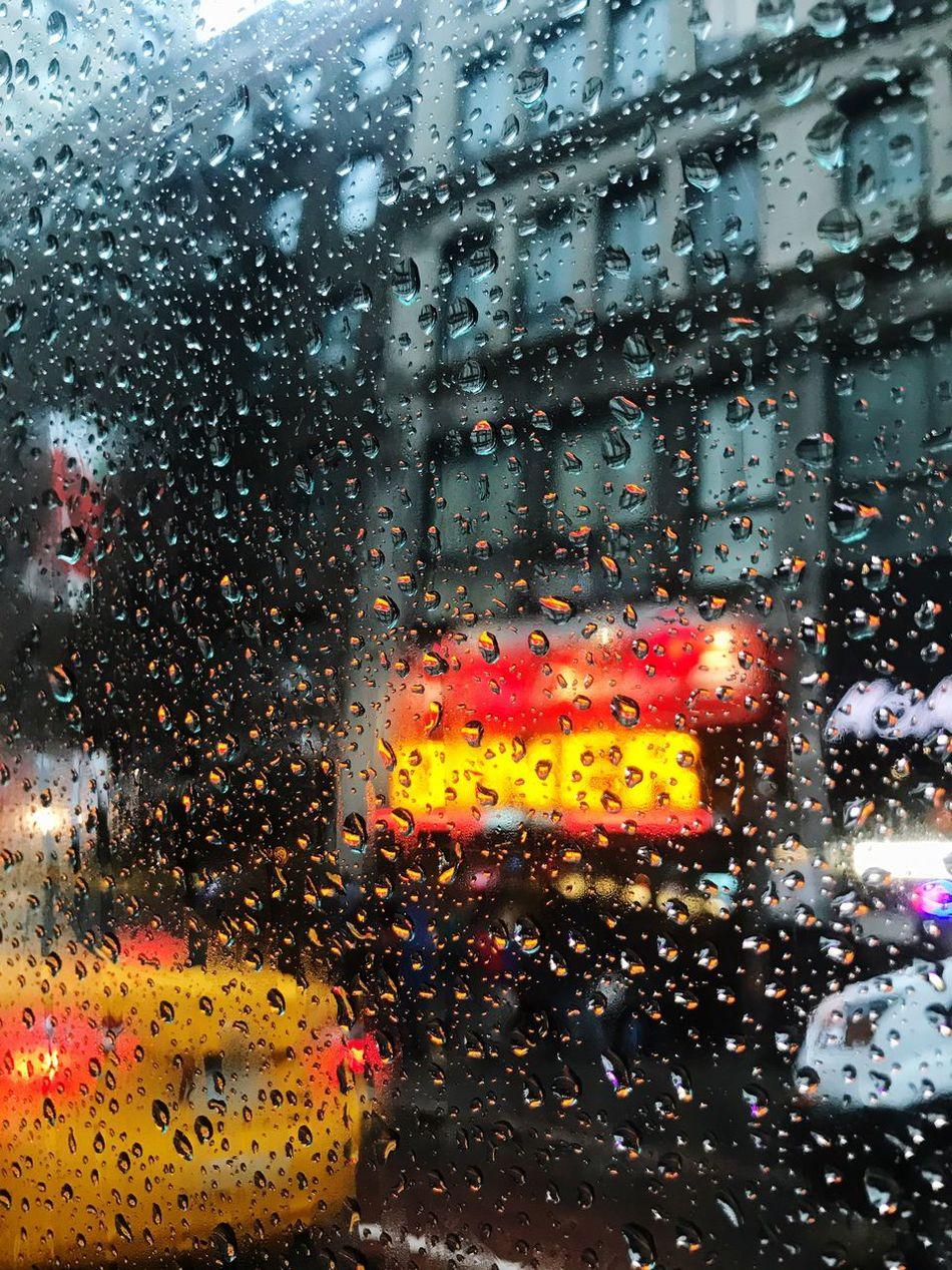 Rainy Manhattan. April showers.