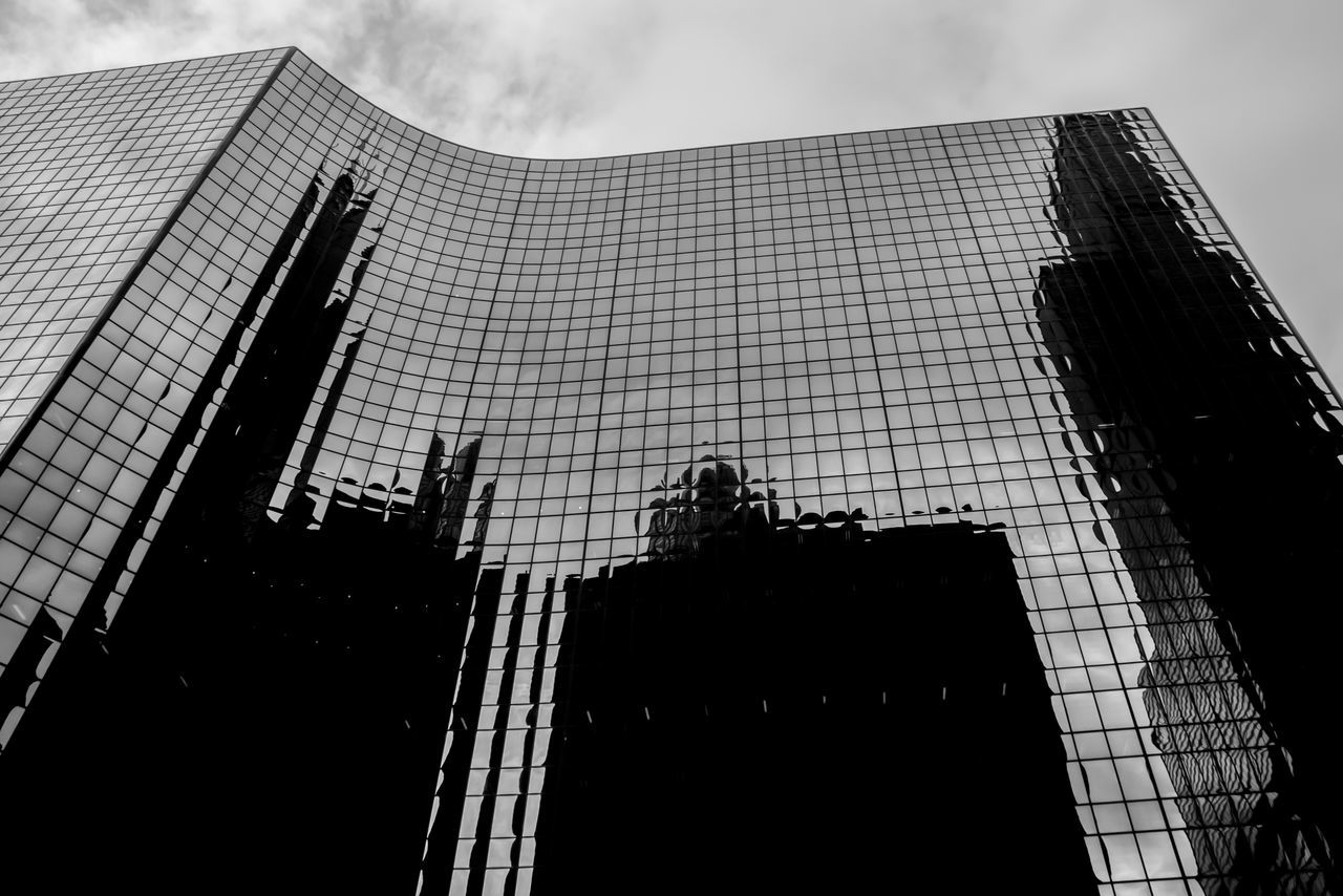 Abstract Architecture Blackandwhite Building Exterior Built Structure City City Cityscape Corporate Business Day Growth Low Angle View Modern No People Outdoors Reflection Sky Skyscraper Tall
