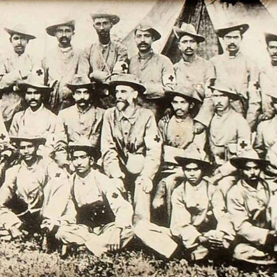 Hindustan_times Father of Nation Mahatma Gandhi with their troop members during the Boer war in 1899.Mahatmagandhi Gandhi 2october Dailylife Filephoto Memories Memoreylane Instagram InstawithHT Raviclick Chandigarh India Fatherofnation