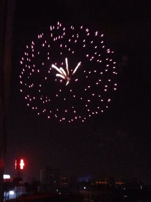 Fireworks at Latphrao Rd, Bkk by Ing
