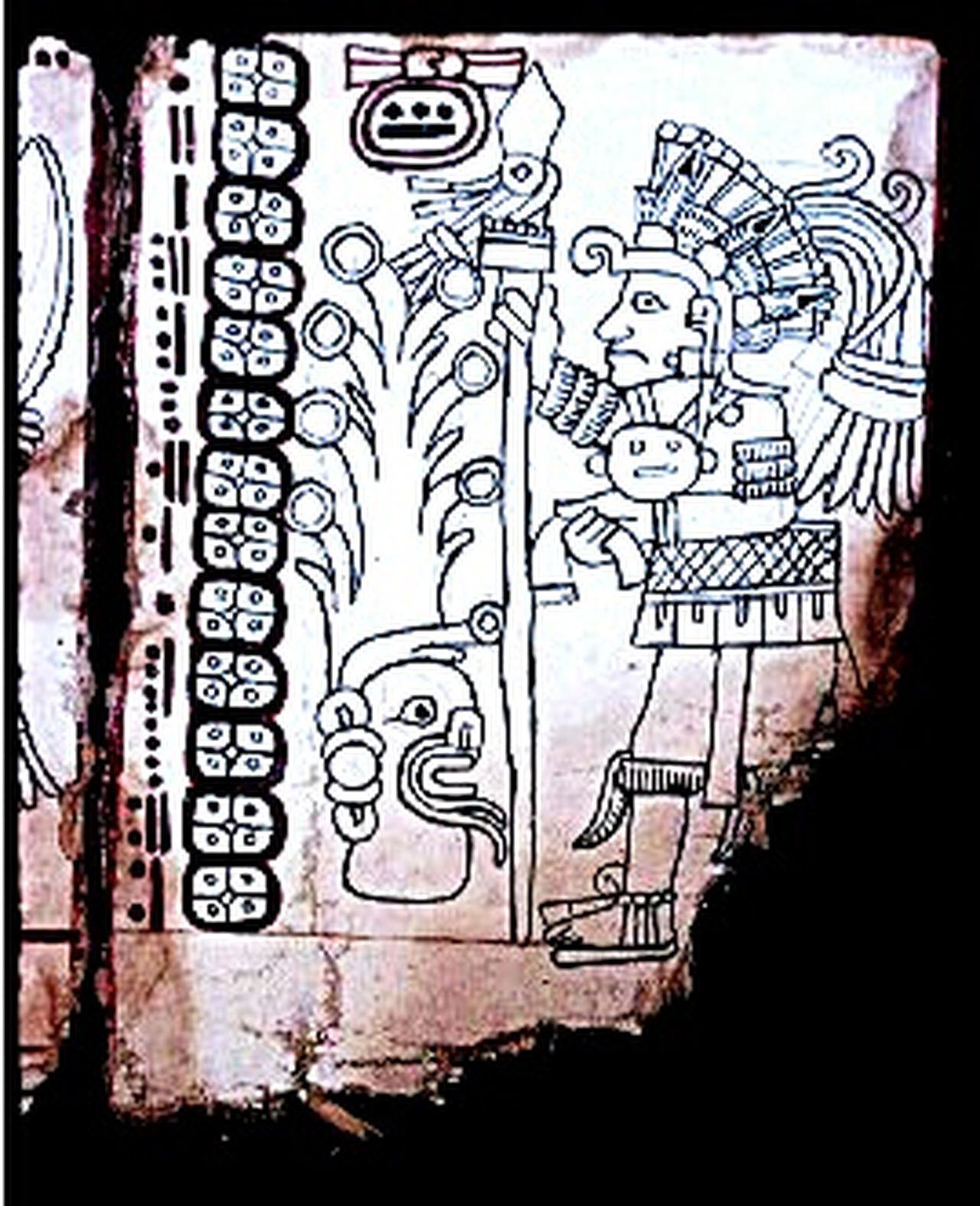 A page from the Grolier Codex. A recent new Mayan codex. It has been known for a few years, but now has been proven authentic. Text Magic Taking Photos Loving Life! ! ! Research And Development