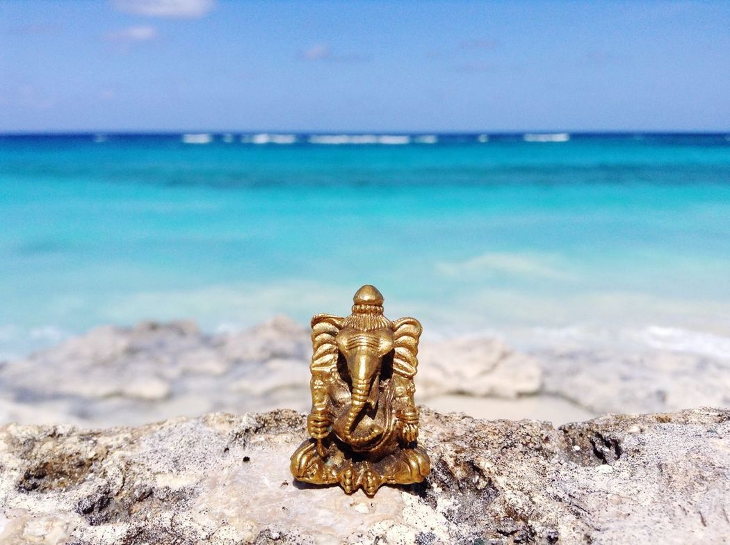 Beach day at the ashram! Bahamas Natural Beauty Ganesha Beach