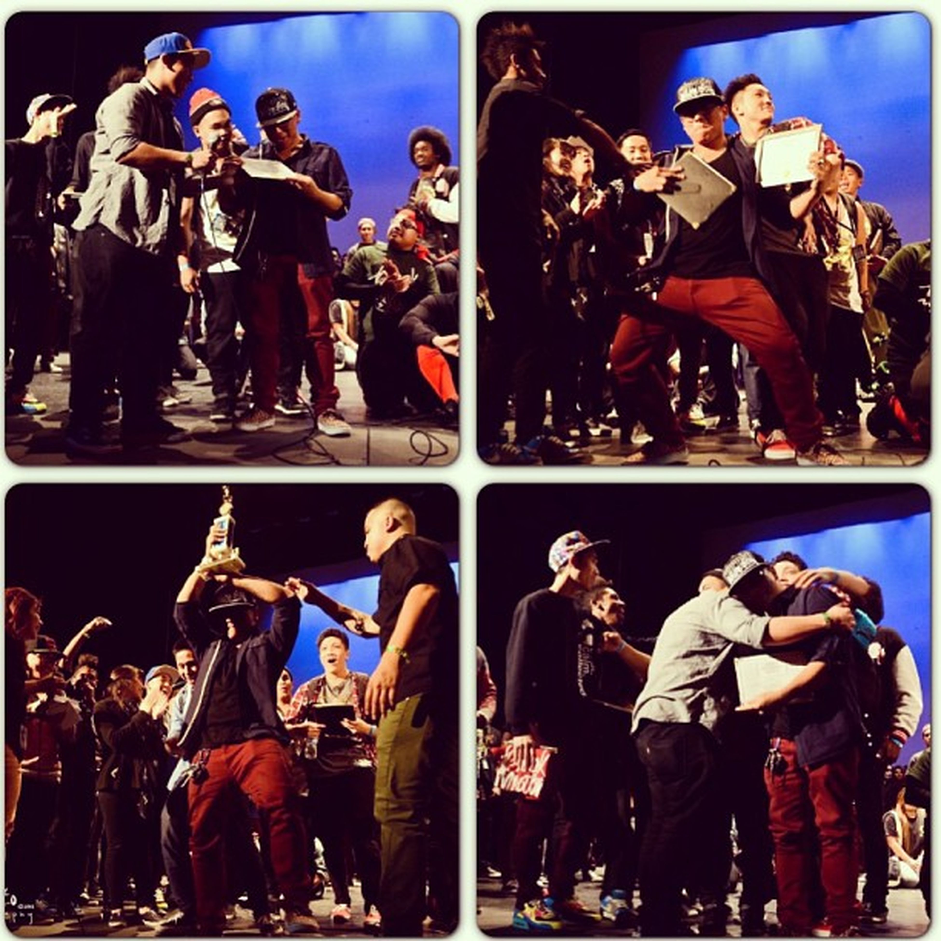 Kind of a TBT  I guess haha. This made me hella laugh 😂😂😂 Just some different emotions captured when placing at Breakthrough with @stepboys (1) Thanks Rillera (2) Hell yeah, 2 awards?! (3) Lion King (4) Love you ❤ Stepboys Imbookie Liveforeverandneverdie 3rdplace Mostawards LOL Thanks  Moments Holla  IdBeat Hugs Champions Notreally Couldausedthat1000dollars Wearethebrokestcrew DAMNIT Loveyou