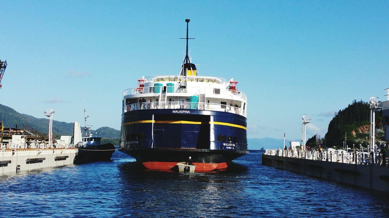 M/V Malaspina Dry Docking AMHS Ferry Alaska Vessel