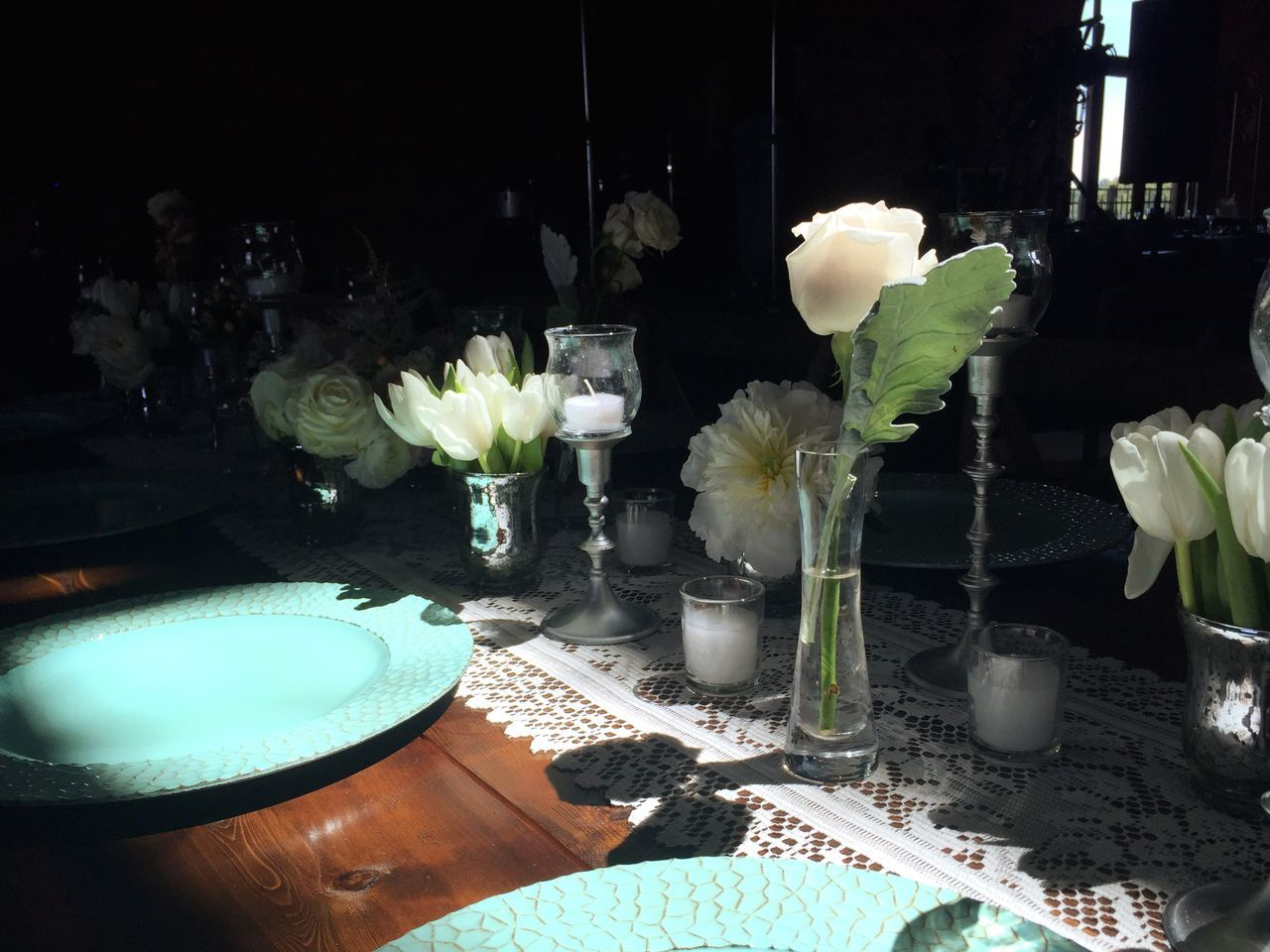 Prepping for the big day! Gorgeous Light in this space Light And Shadow Flowers
