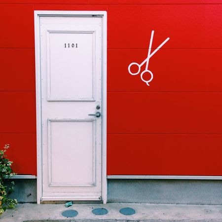 EyeEmNewHere Door Red No People Built Structure Architecture Day Outdoors Building Exterior Close-up Shot On IPhone. The Graphic City