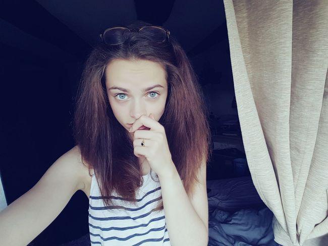 Look Into My Eyes... French Girl Blue Eyes Taking Photos Photographic Memory Selfie Portrait Girl #me Eyes Lips [ Girl Power Dream Sweet Girl Relaxing Enjoying Life Take Photos That's Me