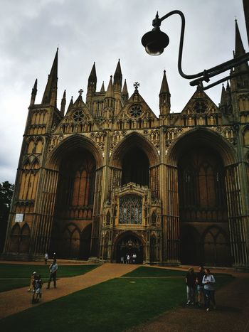 Peterborough cathedral Architecture Travel Destinations History Built Structure Politics And Government Day Vacations People Building Exterior Adult Outdoors Grass City Adults Only Sky Clock Only Men