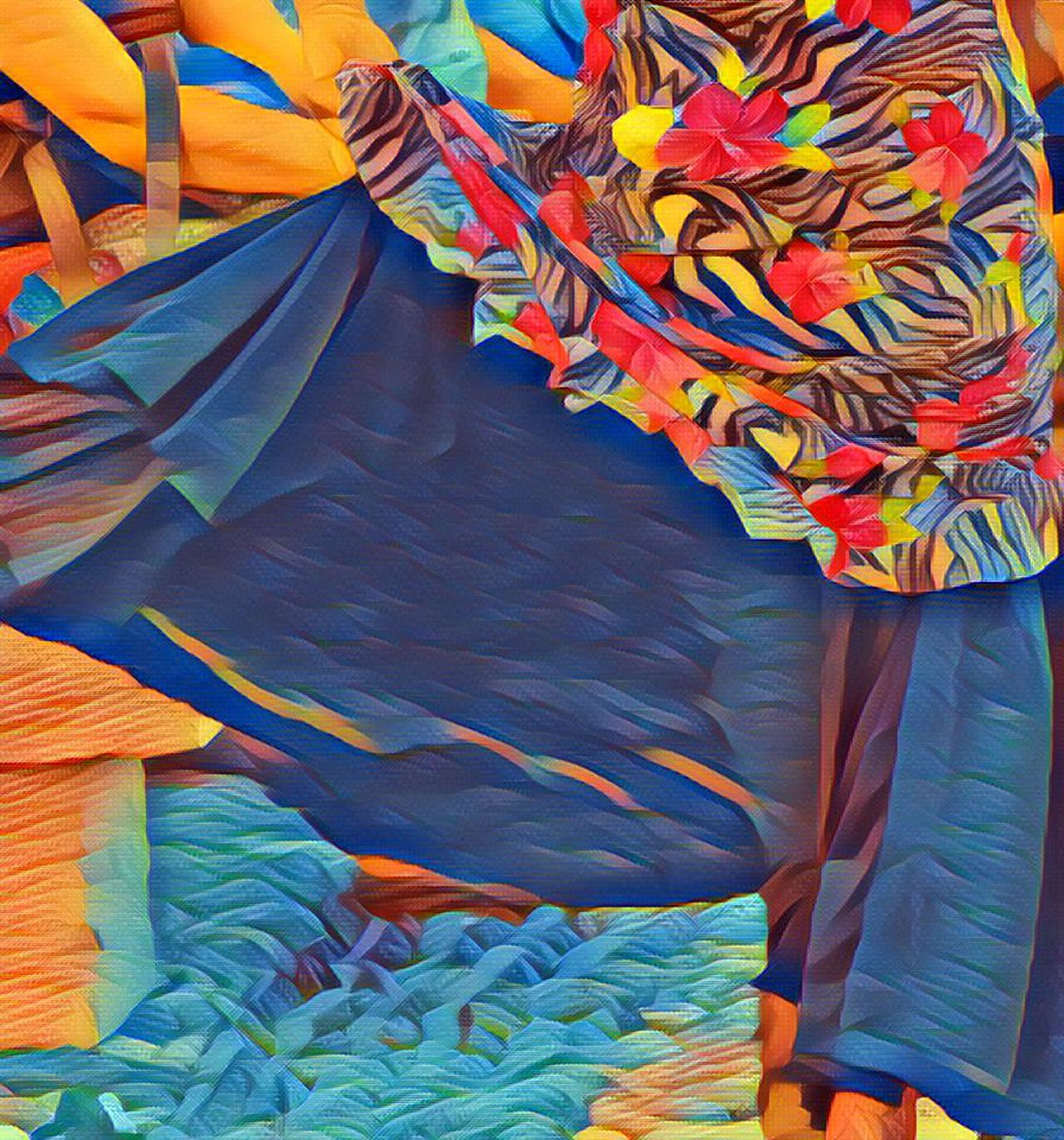 Flamenco Dancer Flamenco Dress IN THE STREETS of Granada SPAIN Andalucía Special Effects Arty Multi Colored Textiles Shapes Exploring City Streets  Colorful Photo Edit Dress Lifestyle Way Of Life Culture Tradition
