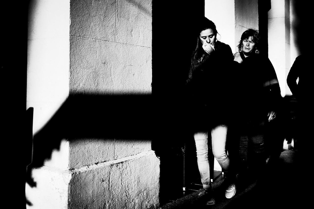 Streetphotography Black And White Contrast Light And Shadow Light Nikond610 28mm Lens Candid Photography Monochrome_life Candidshot Bw_lover First Eyeem Photo Sadness Wall Street Streetmood Sunny Day Wintertime Côte D'Azur