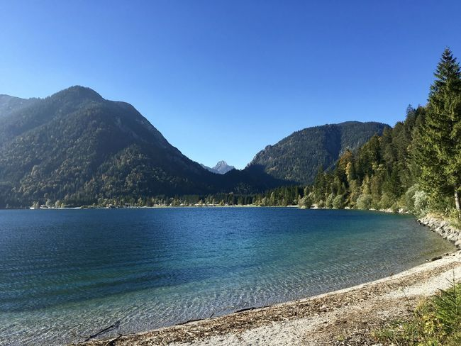 Seewinkel am Plansee Beauty In Nature Blue Clear Sky Coastline Idyllic Outdoors Plansee Tranquil Scene Tranquility Water