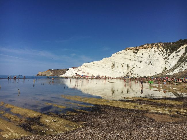 Scaladeiturchi Blue White Sky Nature Reflection Water Sea Realmonte Sicilia Amazing Amazing View Natura Beach Sicily My Favorite Place