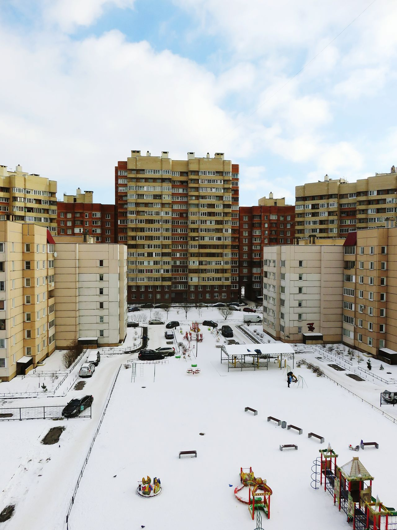City Architecture Urban Skyline Sky Outdoors Cityscape Apartment Skyscraper Nature Day Snow Building Exterior Flying High St Petersburg Russia