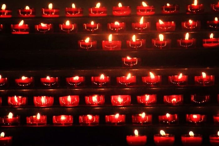 Candle Red Colours Photo
