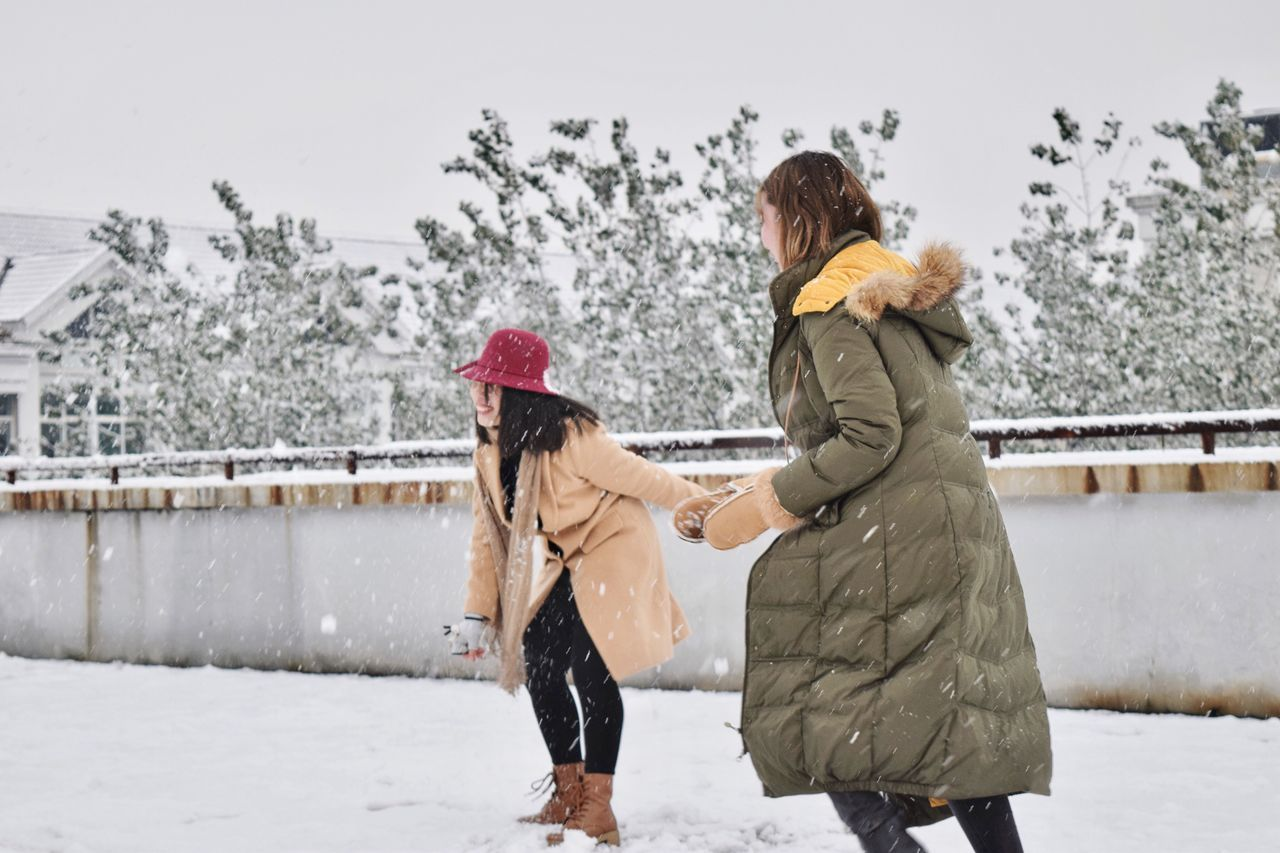 Beautiful stock photos of freundschaft, two people, winter, cold temperature, togetherness