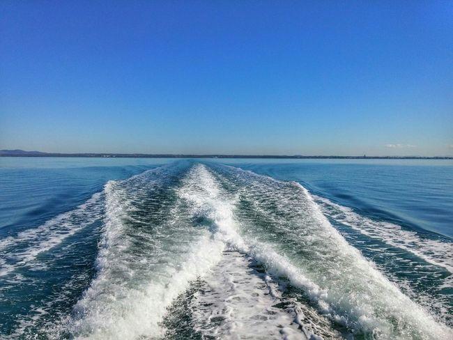 We're on the way to North Stradbroke. Stradbroke Island Blue Sky. On The Ferry Travel Photography LG G3 Holiday POV