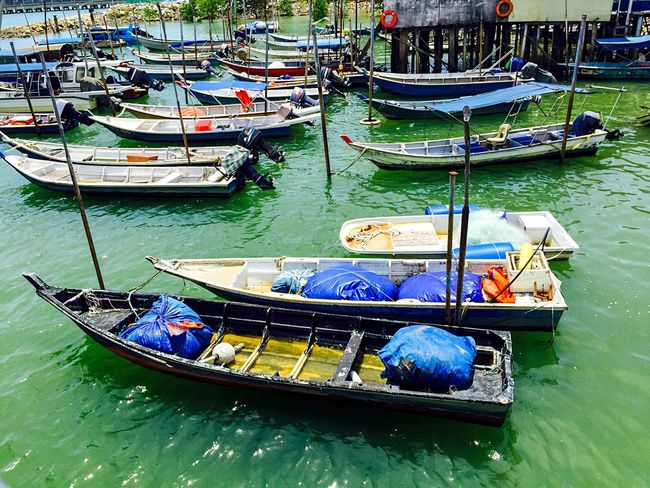 Port Klang Jetty Pulau Ketam Malaysia Sea Seaside Boats Ferry Vacation Traveling Adventure