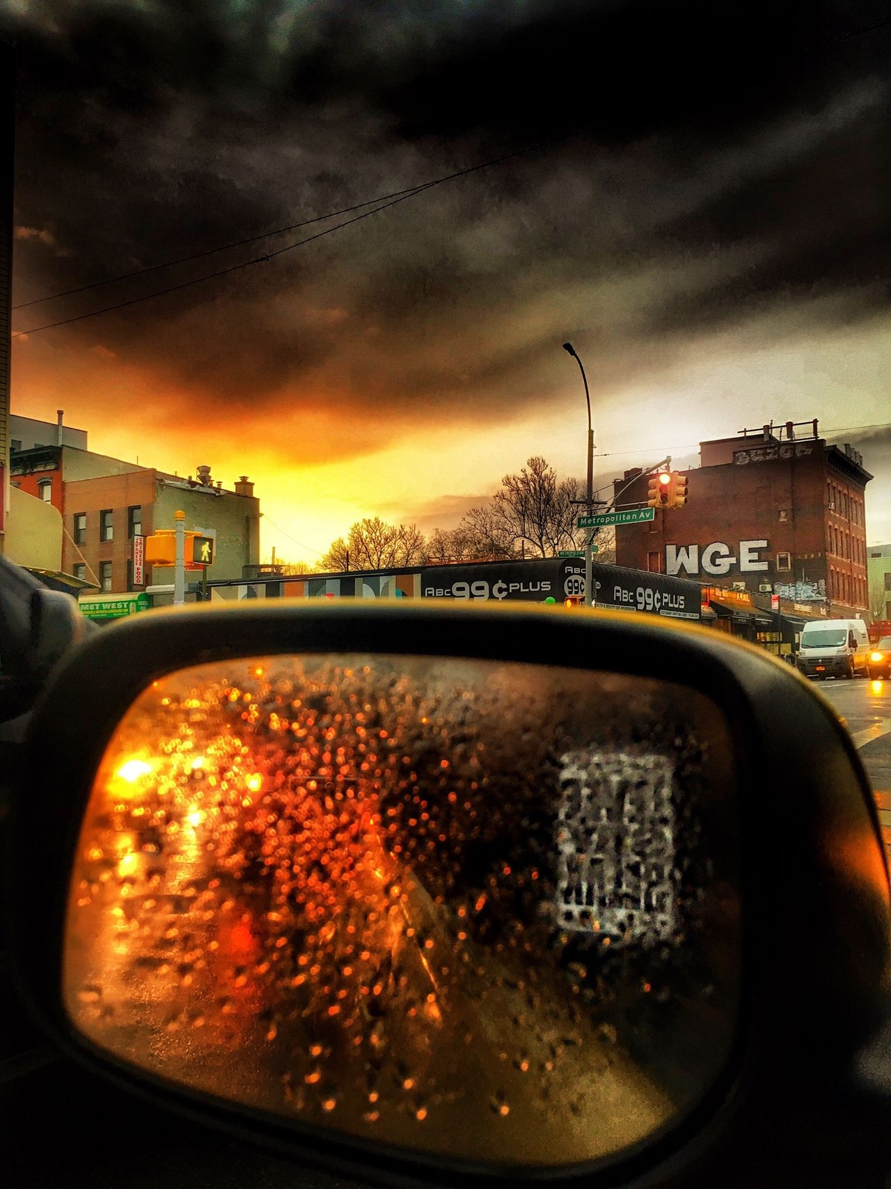 Yesterday. WGE IPhoneography Worst Guys Ever Rain Early Morning Rear View Rearview Mirror Sky And Clouds Dark Sky View From The Window... In My Car City Life Rainy Days FiveSigmaPhoto