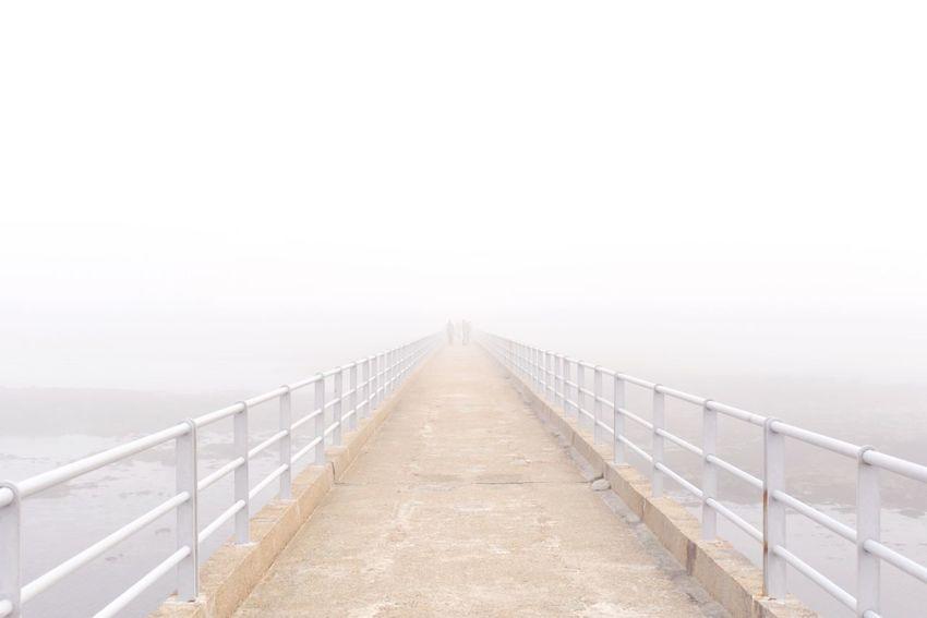 Roscoff Fog Bridge In Fog Mystery Unknown White White Light Edge Of Sea Edge Of Unknown Bretagne