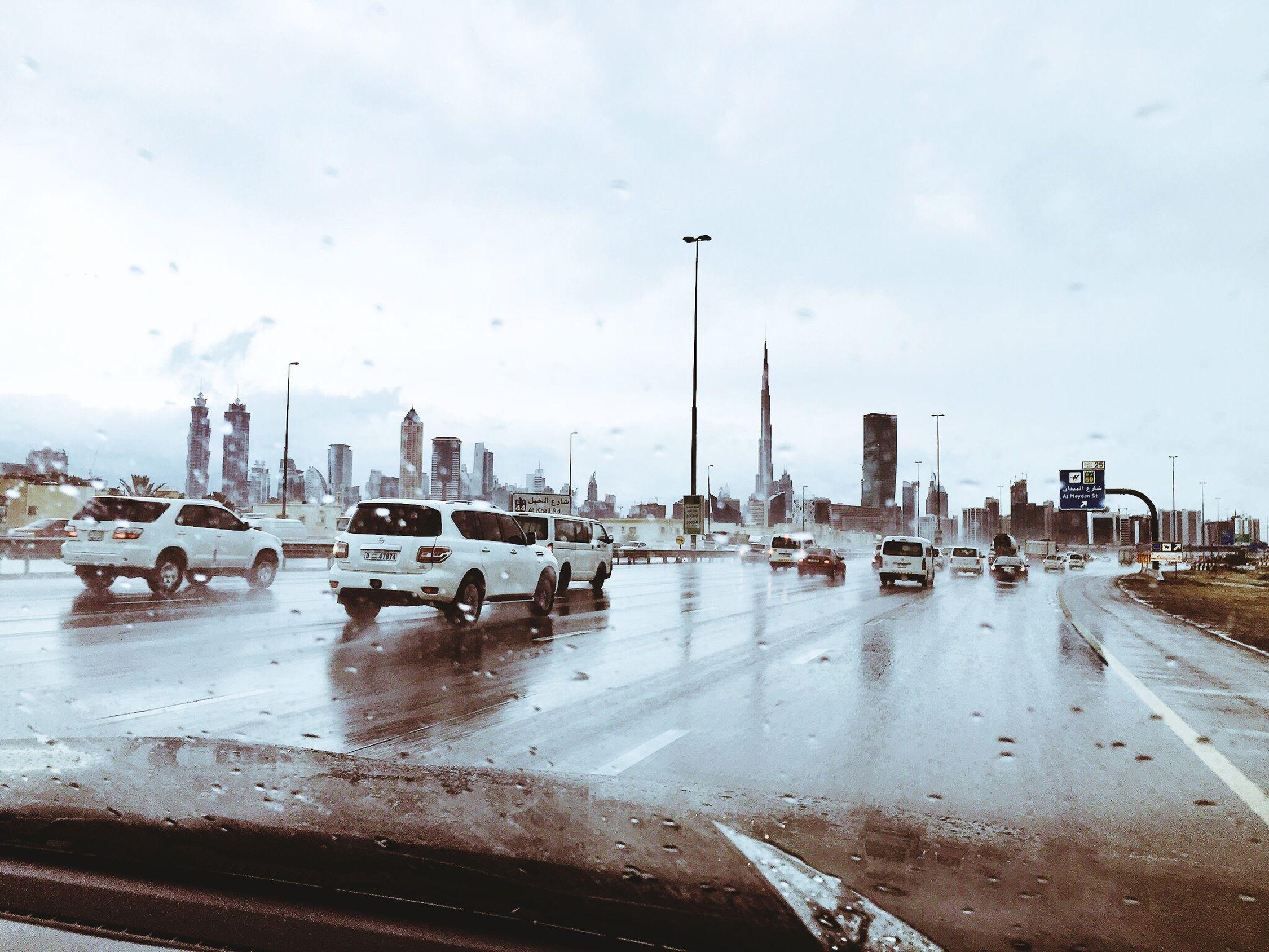 Race Along Driveintherain Burj Khalifa Dubai IPhoneography