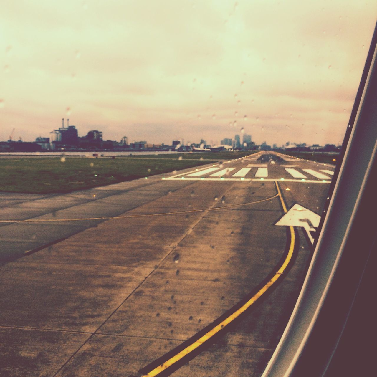 From An Airplane Window London Runway London City Airport