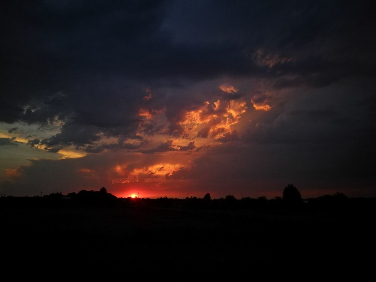 sunset, silhouette, sky, nature, landscape, beauty in nature, no people, scenics, outdoors