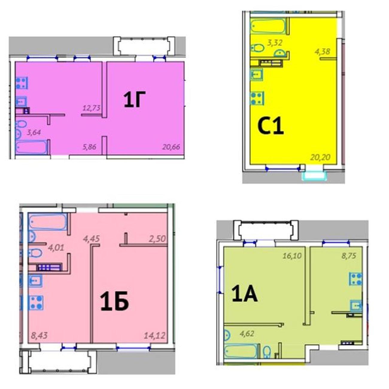 Новый дом ГП-4 в ЖК «Клевер» 1-комн. от 1500 тыс. руб. Тюмень Tyumen новостройкитюмени квартира  скидки новостройка