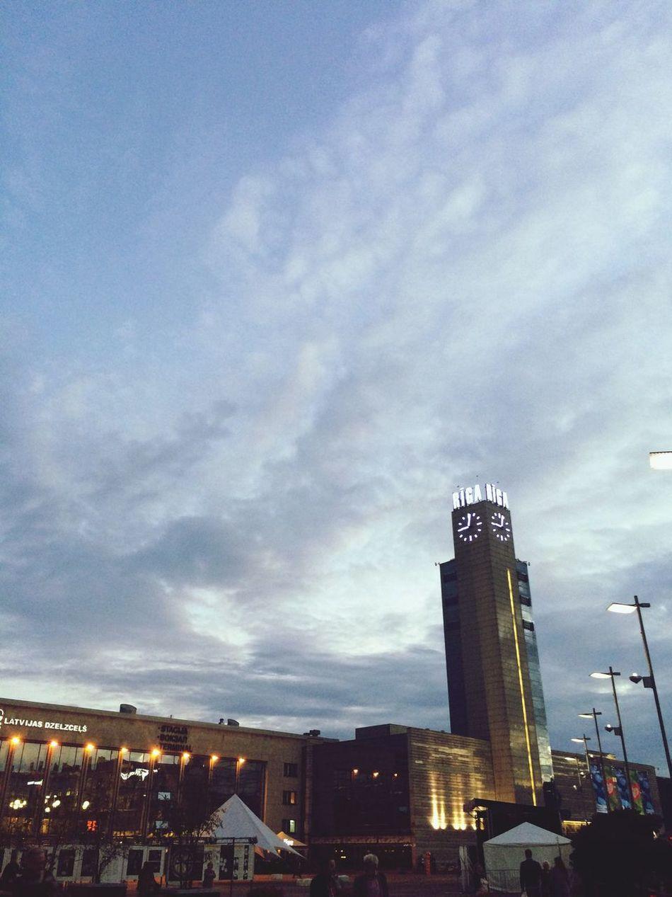 Check This Out Relaxing City Life City Center Origo Clock Tower Central Market 9 O'clock