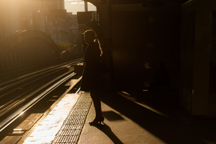 Metrostation Backlight Adult Backlight And Shadows City One Person One Woman Only People Train Station Platform Urban Urban Scenery Urbanphotography EyeEmNewHere Connected By Travel