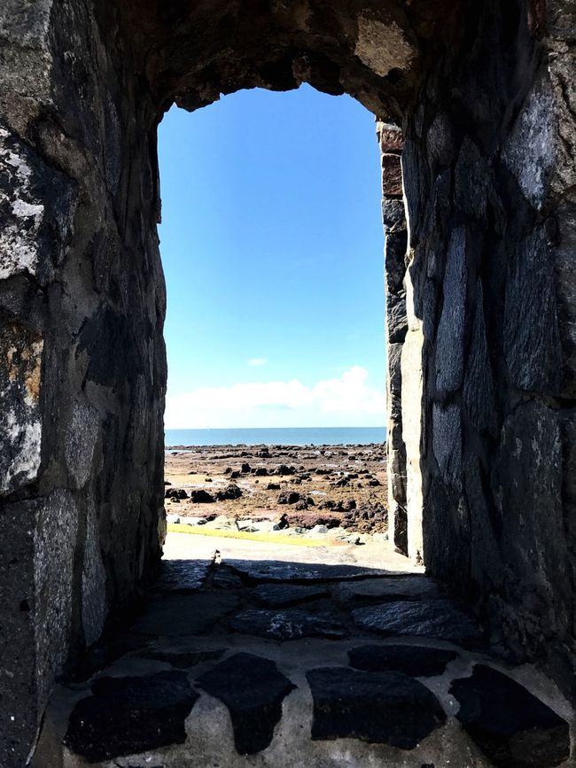 The Secret Spaces Sunlight Sea Water Day Sky Window No People By The Sea Clouds And Sky Arch Arch Window Built Structure Blue Sky Art Is Everywhere