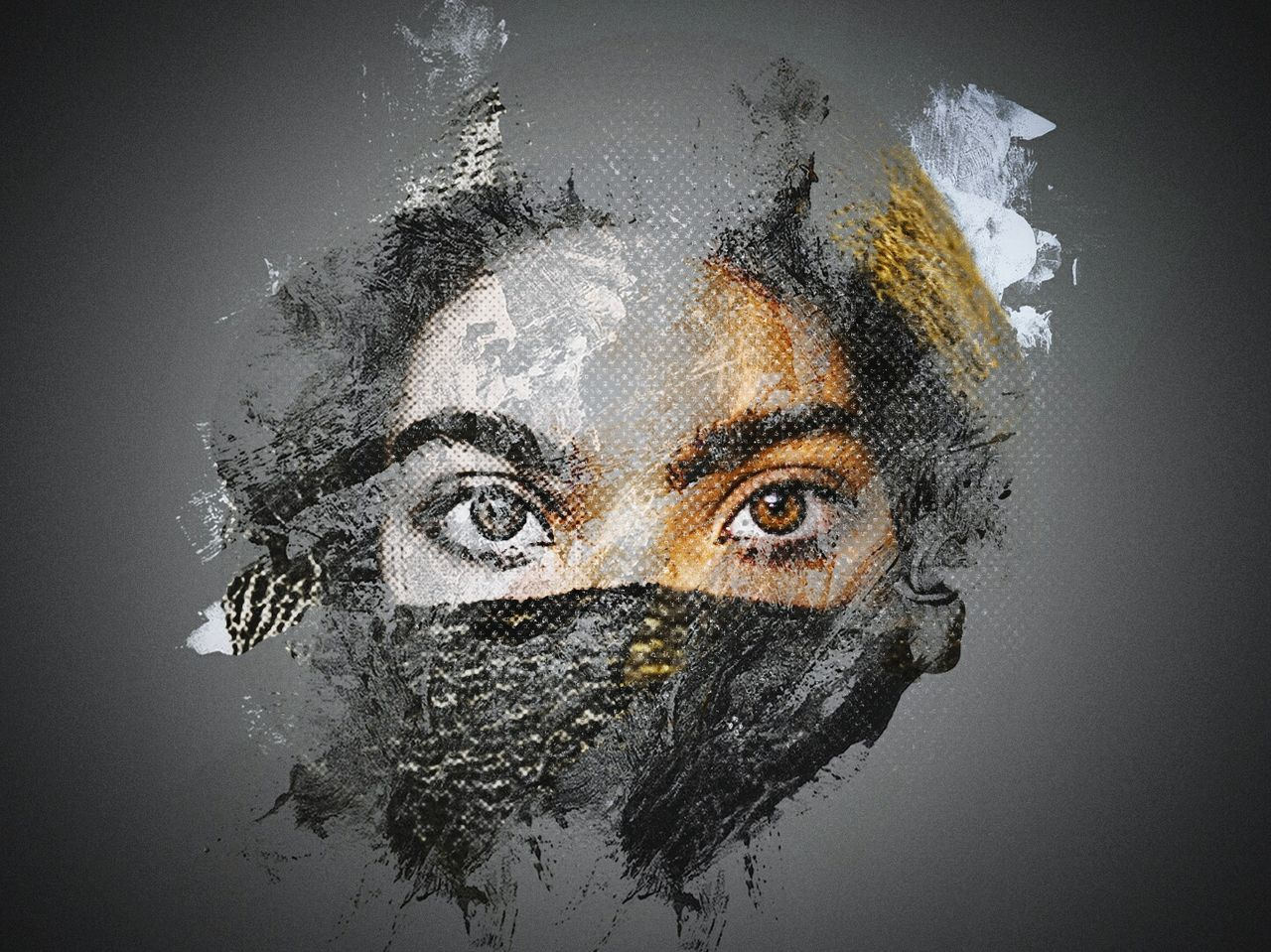 Portrait People Headshot Eyes Art, Drawing, Creativity ArtWork Art Artphotography Artistic Halftone Portraits Portrait Of A Woman