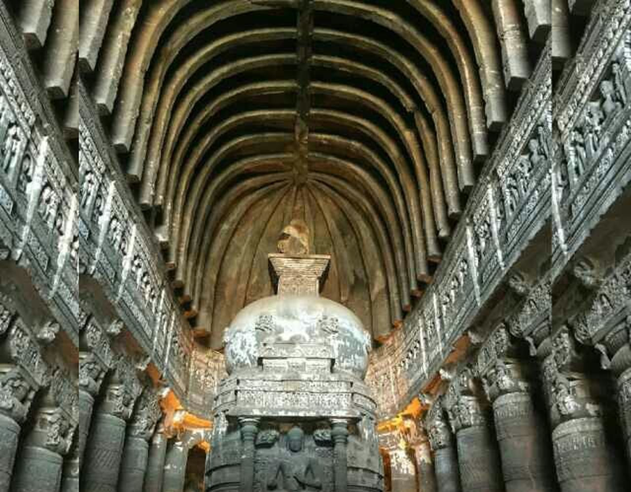 India Ajantacaves Beautiful Construction Indian Temples Budha Background Cieling Artistic Photography Mobile Photography Here Belongs To Me Things I Like The Architect - 2017 EyeEm Awards