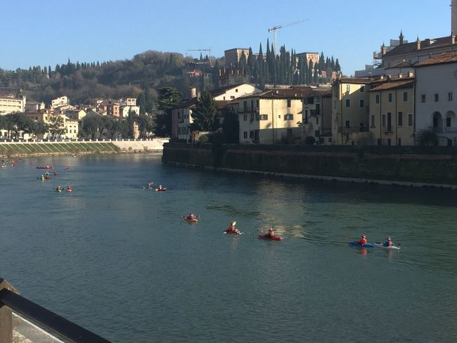 Santa Claus Kayaking Time in Verona on Adige River