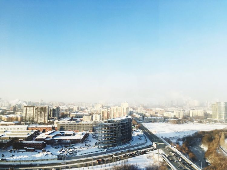 Building Exterior City Architecture Built Structure Cityscape Winter Cold Temperature Snow Day Outdoors Clear Sky No People City Life Residential Building Sky Nature