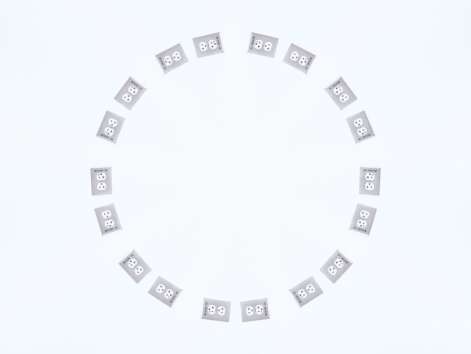 Clean Photo Clean Lines Minimalism Minimalistic Simple Greyscale Black And White Photography Black & White Black And White Blank Space White Background Kaleidoscope Circle Smooth Light Electrical Outlet Electrical Sockets Electricity