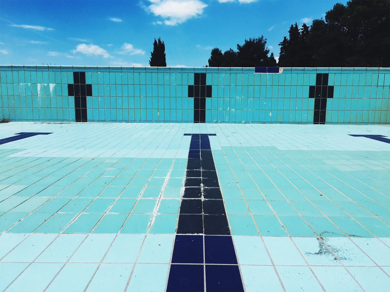 Off season swimming pool. Waiting foe the summer. Swimming Pool Outdoors Tile Architecture Day Sky Tree Built Structure No People Building Exterior Minimalism Abstract Colors Structure Eye4photography