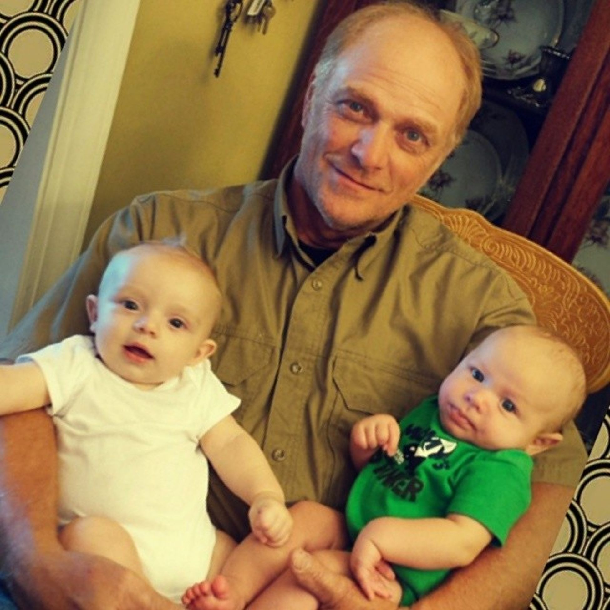 Papaw with two of his eight grandsons. Samuelpeyton Dustonpierce @dustyaustin00