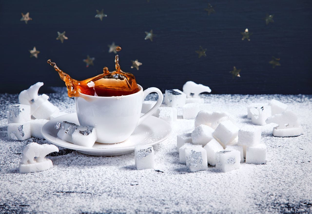 Building polar landscapes on my table ❄🌨🌊 Splashing Splash Coffee Coffee Time Polar Bear Sugar Sweet Winter Snow Cold Temperature White Color Celebration Christmas No People Close-up Indoors  Christmas Decoration Drink Reindeer Nature Christmas Ornament Day (null)Table Food And Drink