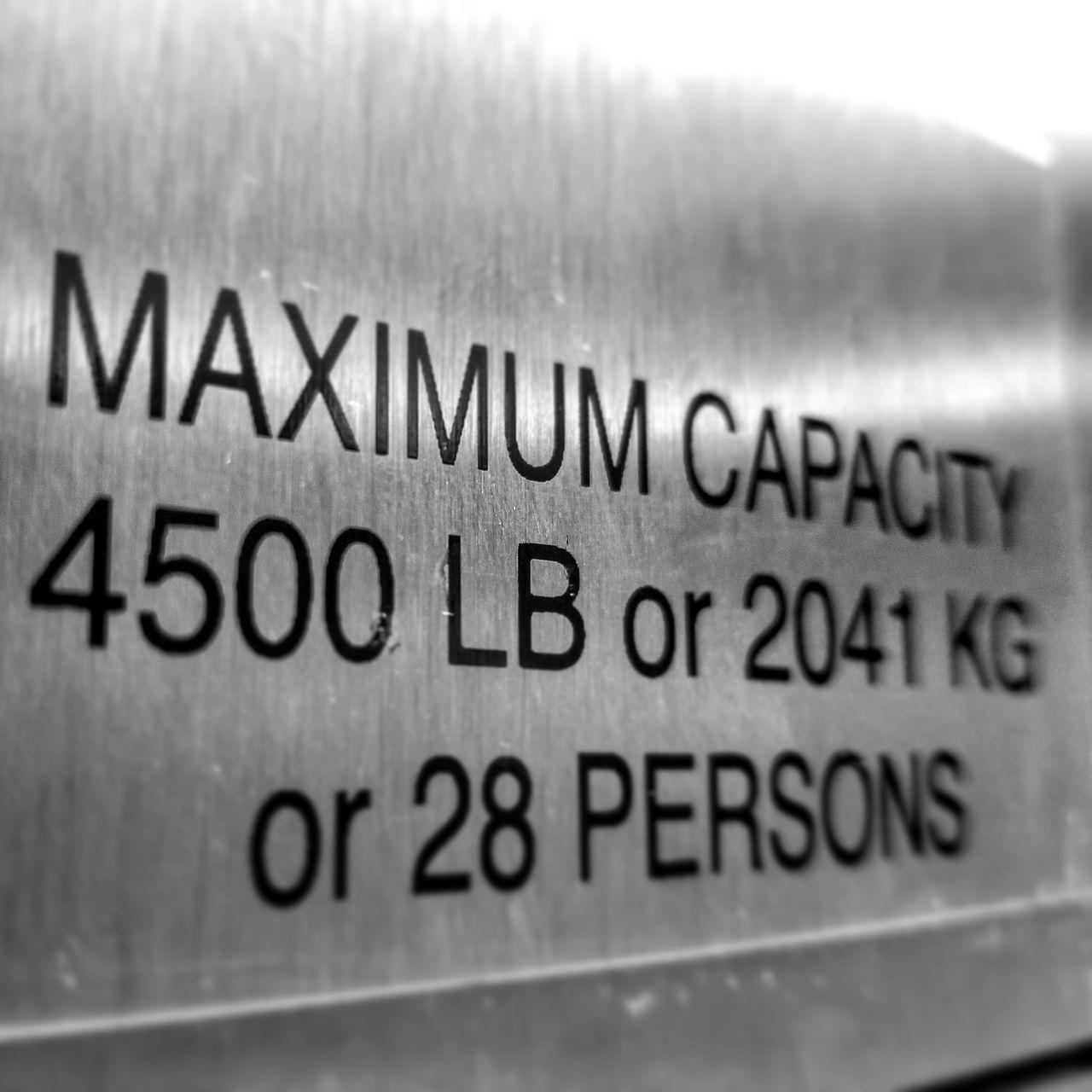 Close-up No People Indoors  Black And White Storage Space Elevator Space Storage Buildings Elevator Door Maximum Capacity Reached