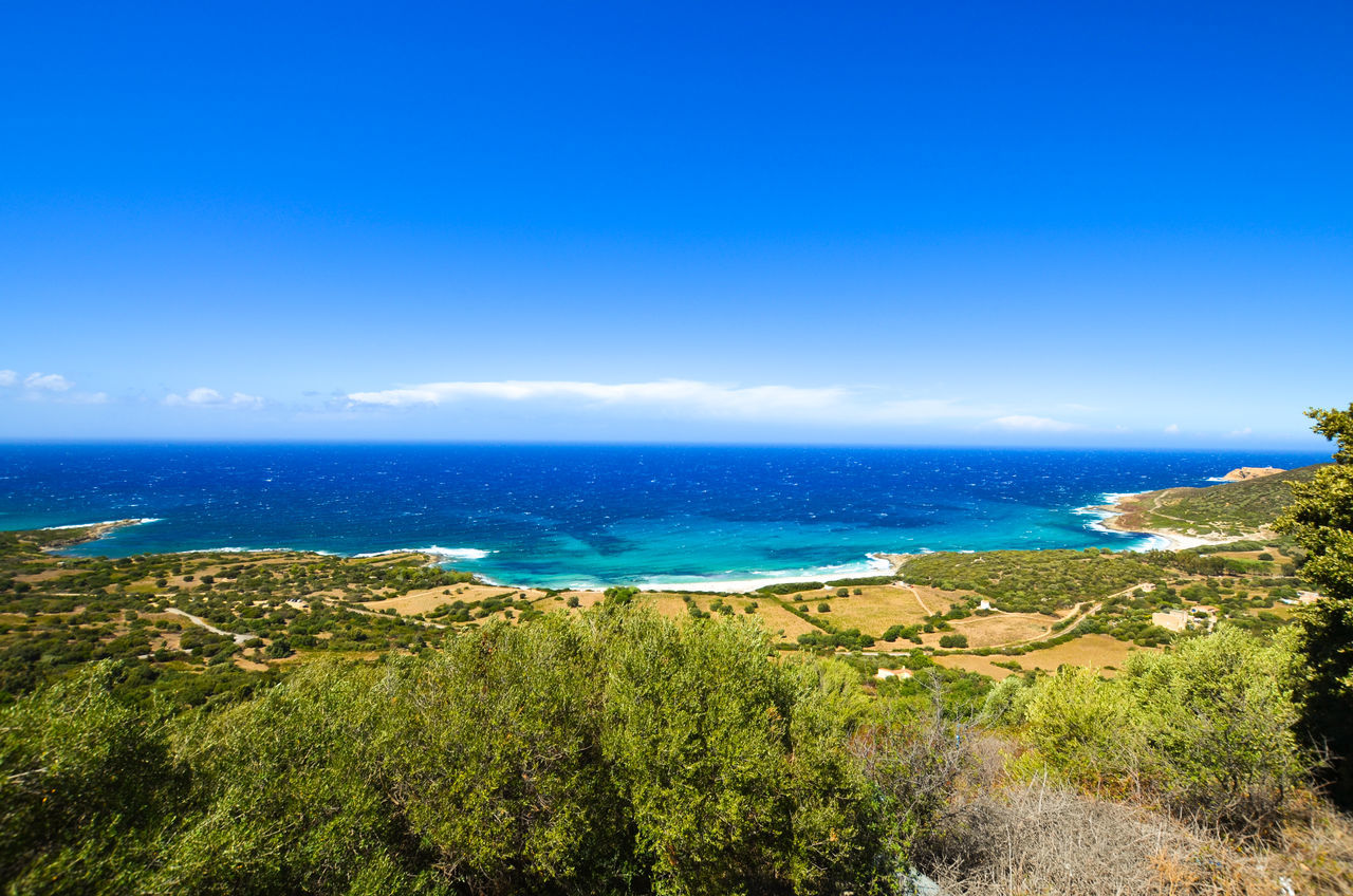 Beach Blue Corse Corsica Day France Horizon Over Water Landscape Nature No People Outdoors Pigna Scenics Sea Tranquil Scene Travel Destinations Vacations Water Wild
