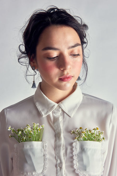 #beautyshot #editorial #fashion #flowers #makeup #marcfashionvn #portrait Beautiful Woman