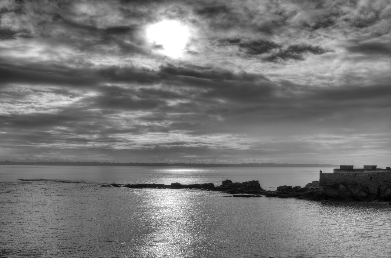 Beach Beauty In Nature Black And White Photography Blackandwhite Bretagne Bretagnetourisme Bw Cloud - Sky Day Horizon Over Water Idyllic Morbihan Nature No People Outdoors Sand Scenics Sea Sky Sun Sunset Tranquil Scene Tranquility Water