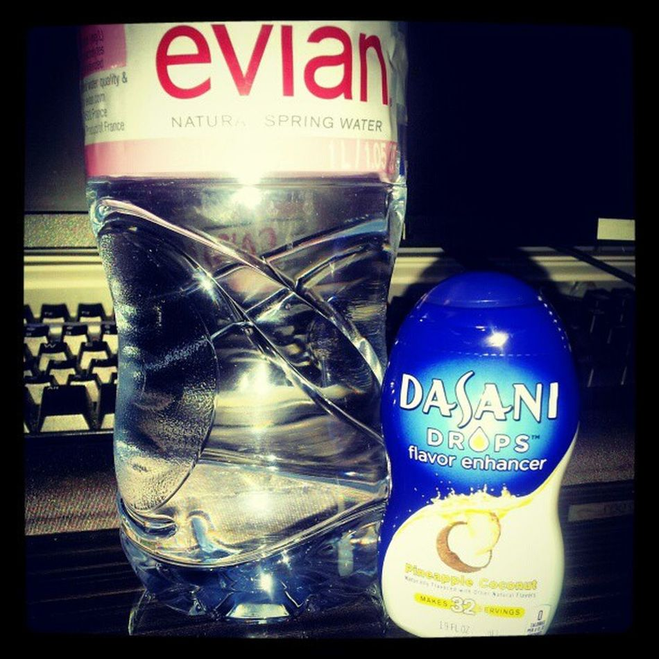 The perfect couple!!. Dasani Flavor Enhancer 0calories pineapple coconut healthy health heaven fit fitness refresher resolution newbody energy fuel trainmean