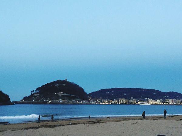 Hermosa playa de Donosti y sus vistas