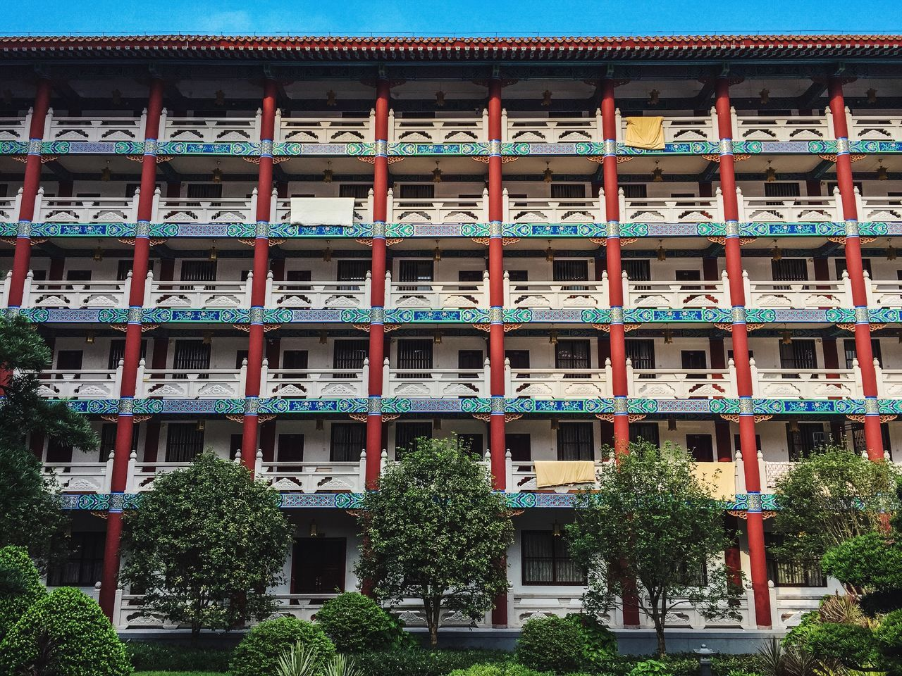 Architecture Built Structure Building Exterior Window Residential Building Residential Structure House Balcony Low Angle View Façade In A Row Outdoors Day Repetition Growth Beautifully Organized Apartment No People Exterior Temple Chinese Chinese Culture Monk  Zhuhai China